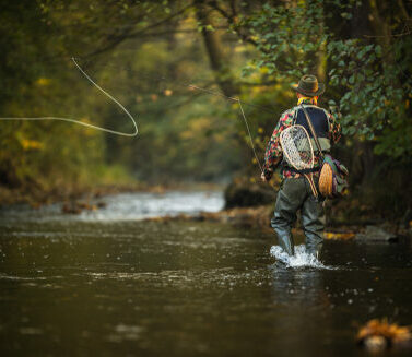 Close-up,View,Of,The,Hands,Of,A,Fly,Fisherman,Holding
